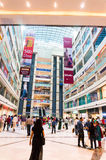 Mall in delhi Gurgaon. DELHI, INDIA, 22ND OCTOBER 2016 - People roaming around in a shopping mall in Delhi Gurgaon India. airconditioned malls have become a Stock Image