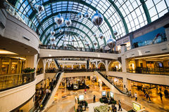 Mall of the Emirates. DUBAI, UAE - DECEMBER 19: Shoppers at Mall of the Emirates on December 19, 2013 in Dubai. Mall of the Emirates is a shopping mall before Stock Photos