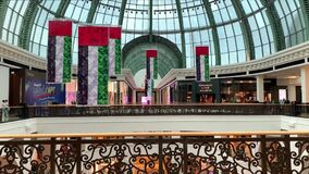 Mall of the Emirates decorations for National Day. UAE national flags decoration. Flag day