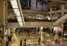 Mall of the Emirates in Dubai. Interior of the Mall of the Emirates in Dubai, United Arab Emirates. The mall - one of the biggest in the Middle East - is famous Royalty Free Stock Images