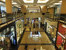 Mall of the Emirates in Dubai, UAE. It is  the world's first shopping resort and a multi-level shopping centre, and also Ski Dubai - the Middle East's Stock Photo