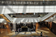 Mall of the Emirates in Dubai, UAE. It is  the world's first shopping resort and a multi-level shopping centre, and also Ski Dubai - the Middle East's Royalty Free Stock Photos