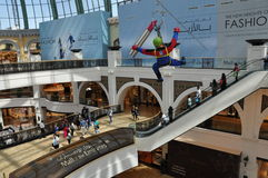 Mall of the Emirates in Dubai, UAE. It is the world's first shopping resort and a multi-level shopping centre, and also Ski Dubai - the Middle East's first Stock Photos