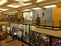 Mall of the Emirates in Dubai, UAE. It is  the world's first shopping resort and a multi-level shopping centre, and also Ski Dubai - the Middle East's Royalty Free Stock Images