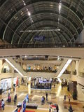 Mall of the Emirates in Dubai, UAE. It is  the world's first shopping resort and a multi-level shopping centre, and also Ski Dubai - the Middle East's Stock Photos