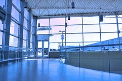 Mall entrance hall. Entrance hall with blue tone Stock Photos