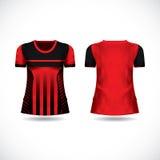 Mall för ärmlös tröja för T-tröjadesignsats Arkivfoto