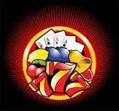 mall för 3 kasino stock illustrationer