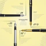 Mall för affärsdesign, infographic och website Arkivbilder
