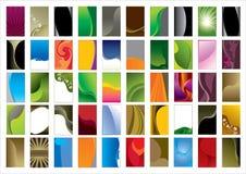 mall för affärskort Fotografering för Bildbyråer