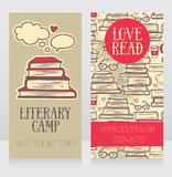 Mall för affärskort för bokläger royaltyfri illustrationer