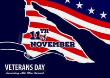 Mall för affisch för dag för veteran` s royaltyfri illustrationer