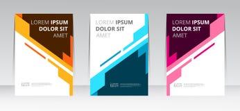 Mall för affisch för rapport för räkning för ram för vektorabstrakt begreppdesign vektor illustrationer