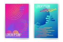 Mall för affisch för vektorneonabstrakt begrepp Arkivbild