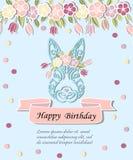 Mall för Baby födelsedagen, påskdag, partiinbjudan, hälsningkort, baby shower Arkivbilder