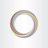 Mall för bakgrund för abstrakt begrepp för färgcirkel Royaltyfria Foton