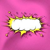 mall för bakgrund för Pop-konst humorbokmoln stock illustrationer