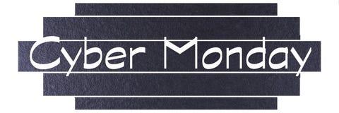 Mall för baner för Cybermåndag svart Cybermåndag etikett royaltyfri foto