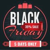 Mall för baner för design för Black Friday försäljningsinskrift också vektor för coreldrawillustration royaltyfri illustrationer
