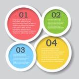 Mall för baner för designrengöringnummer, diagram eller websiteorientering Royaltyfri Bild