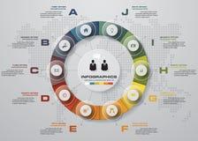 Mall för baner för designrengöringnummer/diagram- eller websiteorientering diagram för 10 moment Arkivbilder