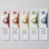 Mall för baner för designrengöringnummer vektor Arkivfoto