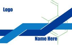Mall för blått vatten för vetenskap idérik vektor illustrationer