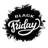 Mall för Black Friday försäljningstypografi Royaltyfri Foto