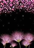 Mall för blom- design för vektor för kort, inbjudan eller meddelande Royaltyfria Bilder