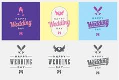 Mall för bröllopdag Arkivfoton