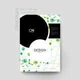 Mall för broschyr för DNAmolekylvektor EPS 10 Arkivbilder