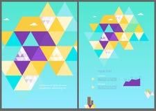 Mall för broschyr för vektoreco geometrisk Arkivfoto