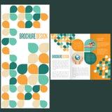 Mall för broschyrorienteringsdesign Arkivbilder