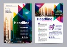 Mall för broschyrorienteringsdesign Bakgrund för presentation för räkning för årsrapportreklambladbroschyr modern illustrationvek Arkivfoton