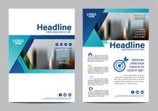 Mall för broschyrorienteringsdesign Bakgrund för presentation för räkning för årsrapportreklambladbroschyr modern illustrationvek royaltyfri illustrationer