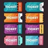 Mall för bussbiljetter stock illustrationer