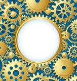 mall för cogwheelförlagekugghjul Royaltyfri Bild