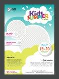 Mall för design för affisch för ungekolonibaner för ungar vektor illustrationer