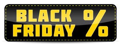Mall för design för Black Friday inskriftbaner Royaltyfria Foton