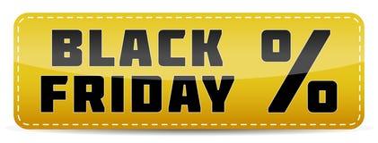 Mall för design för Black Friday inskriftbaner Royaltyfria Bilder