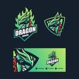 Mall för design för Dragon Concept illustrationvektor stock illustrationer