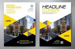 Mall för design a4 för affärsbroschyrreklamblad stock illustrationer