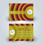 Mall för design för broschyråtlöje övre för affären, utbildning, annonsering Trifold häfte royaltyfri illustrationer