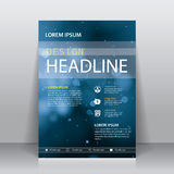 Mall för design för broschyrreklambladräkning Arkivbilder