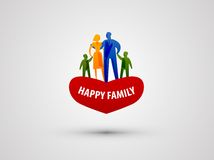 Mall för design för familjvektorlogo folk eller förälskelse Royaltyfri Foto