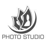 Mall för design för fotostudiologo Royaltyfria Foton