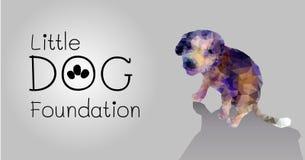 Mall för design för fundament för liten hund för polygonvektor Fotografering för Bildbyråer