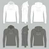 Mall för design för hoodie för man` s stock illustrationer