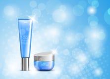 Mall för design för hudfuktighetsbevarande hudkräm kosmetisk stock illustrationer