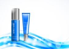 Mall för design för hudfuktighetsbevarande hudkräm kosmetisk vektor illustrationer